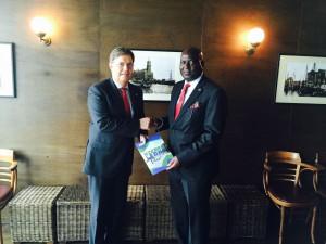 Ambassador Stevens Presenting Sierra Leone to the New Honourary Consul in Hamburg
