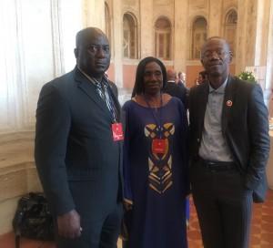 State Minister Posing with Ambassador Stevens and Mrs Jah Maturi